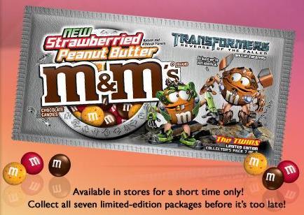 Strawberried Peanut Butter m&m's
